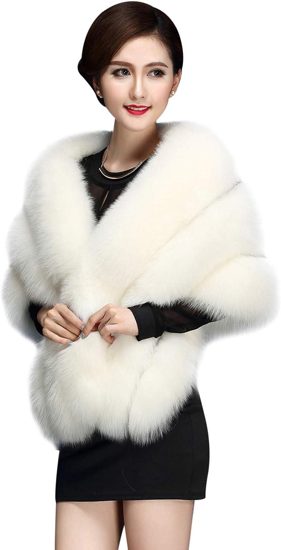 ZX Women's Faux Fur Shawl...