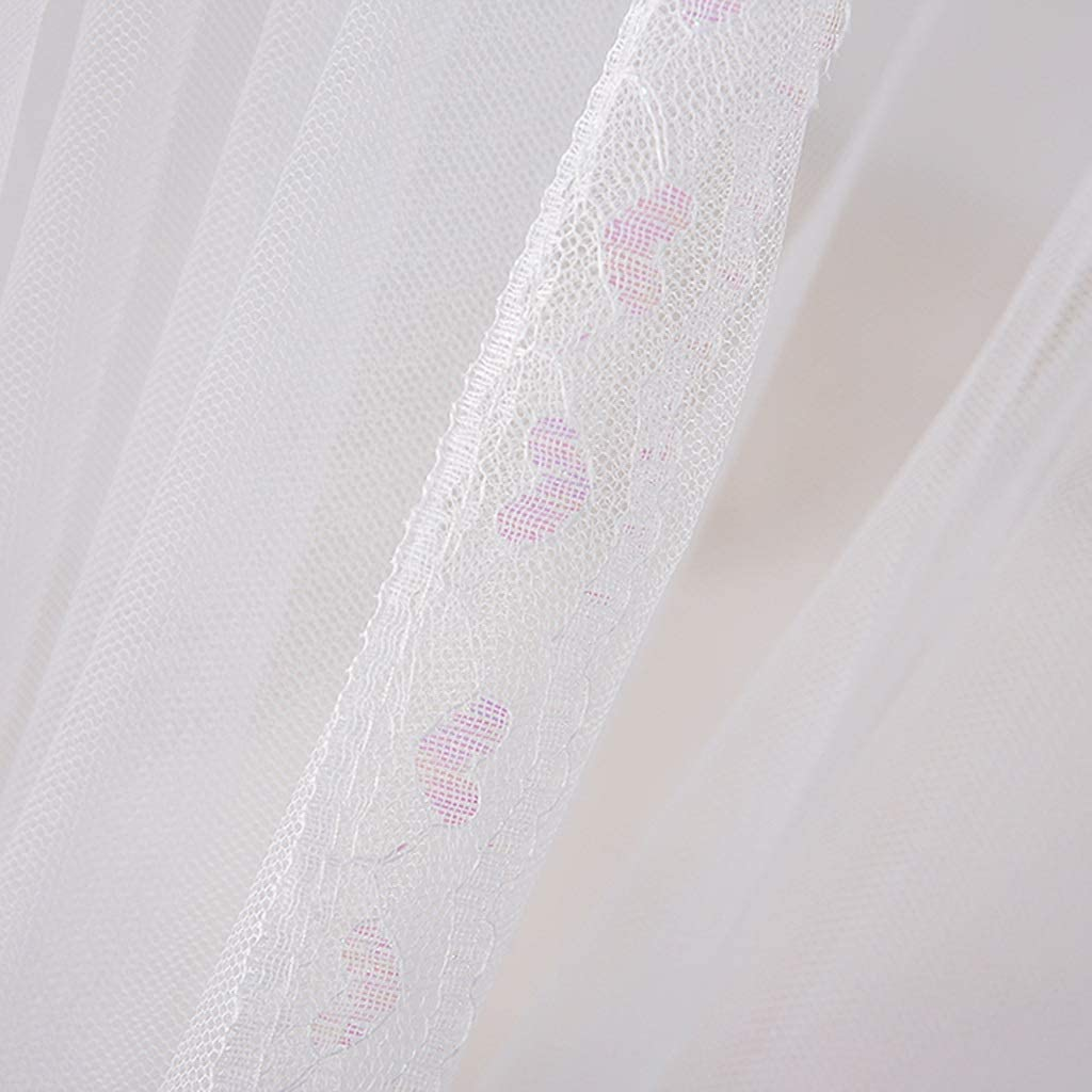 ZHAO YING DREI Offene T/üren-Moskitonetz Keine Hautirritation Nat/ürliches Moskito-Abwehrmittel-Bett Und Schlafzimmer-Dekoration Color : White, Size : S