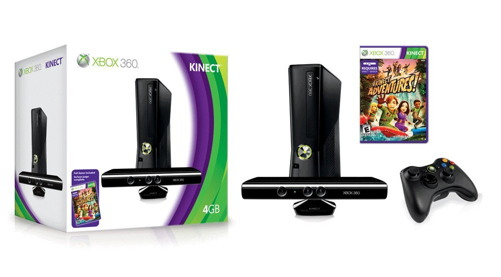 Xbox 360 4GB Console with Kinect by Microsoft (Image #1)