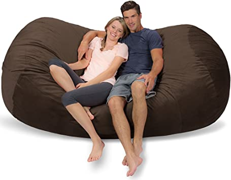 Cocoa Micro Suede Comfy Sacks Kids Memory Foam Bean Bag Chair