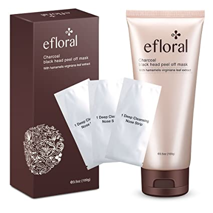 Efloral Characoal Black Purifying Peel Off Face Mask With Hamamelis  Virginiana Leaf Extract For