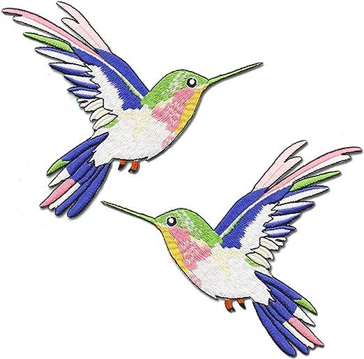 PATCH KOLIBRI Hummingbird Vogel AUFBÜGELN Bügel Bild nähen Applikation flicken