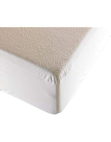 DeliaWinterfel Copri-Materasso Impermeabile A Mollettoni 90x200 cm Colore Bianco by
