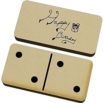 Azeeda Texto del Feliz Cumpleaños Domino Juego y Caja ...