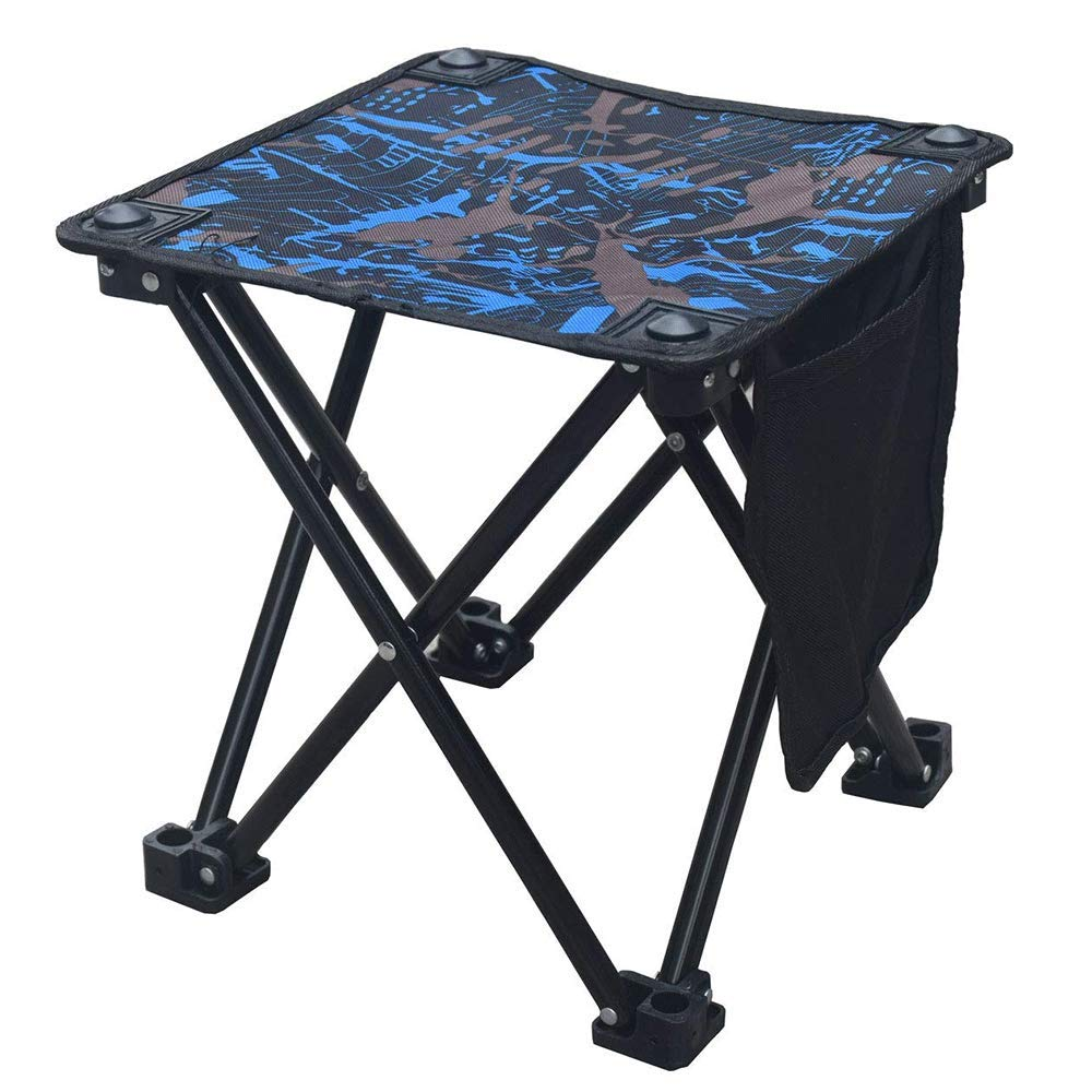 MEHO Folding Camping Stool Small Portable Camp Chair for Fishing Hiking Gardening Beach with Carry Bag
