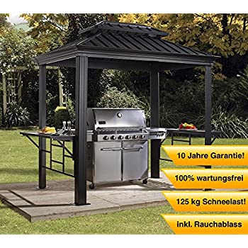 abba patio 9 39 x 5 39 outdoor backyard bbq grill gazebo with steel canopy gray. Black Bedroom Furniture Sets. Home Design Ideas