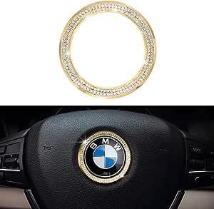 LECART 3Pcs Bling Car Engine Start Stop Button Cover Trims for BMW Premium Zinc Alloy Ignition Push Button Cover Stickers Compatible for BMW 2 3 3GT 4 5 6 7 X1 X2 X3 X4 X5 X6 X6M M2 M3 M4 M5 M6 Series
