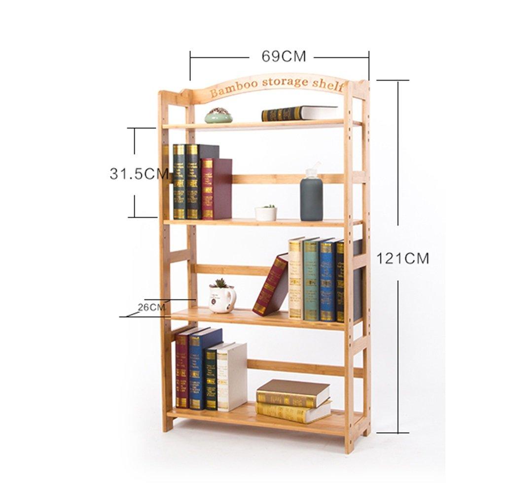 Bamboo Standing Shelf Bathroom Wood Organization Storage Rack Standing Shelving Unit Living Room Bookcase Cube Kitchen Cabinet Bookshelf Display Shelves Flower Rack Size : 3-Tier