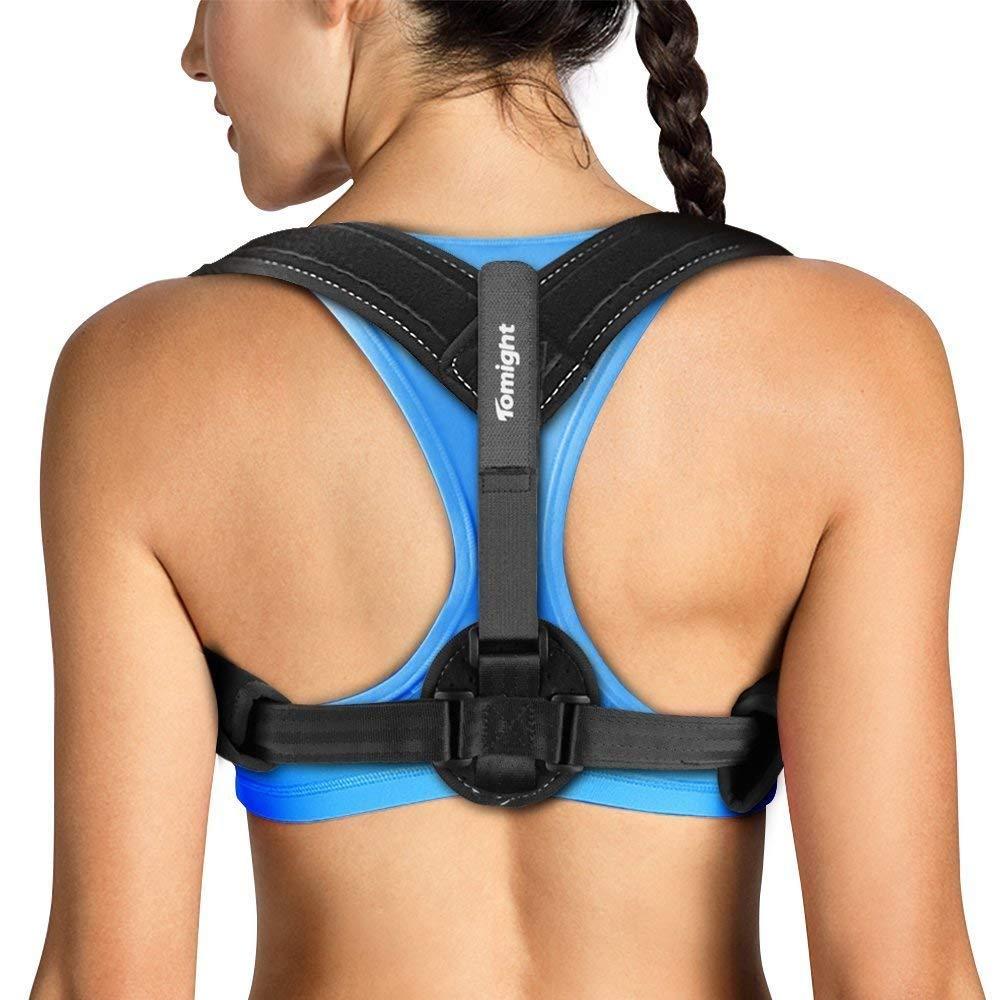 Tomight Back Posture Corrector for Women Men, Effective & Comfortable Posture Brace Support, Clavicle Correct Brace for Improving Posture, Relief Neck/Back/ Shoulder Pain