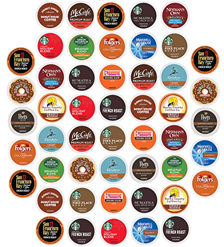 Coffee Pack Variety Sampler, Premium, Single Serve K Cups (50 - Premium Allen Outlet