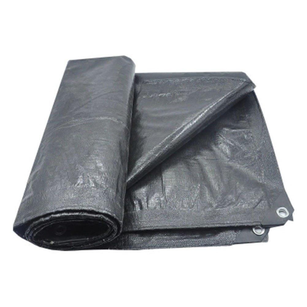 KKCF オーニング ターポリン 耐寒性 涙に抵抗する 抗UV 防カビ ポリエチレン 厚さ:0.35mm 、180G / M2 、22サイズ (色 : Black, サイズ さいず : 3.8x5.8m) B07FXGFJTD 3.8x5.8m|Black Black 3.8x5.8m