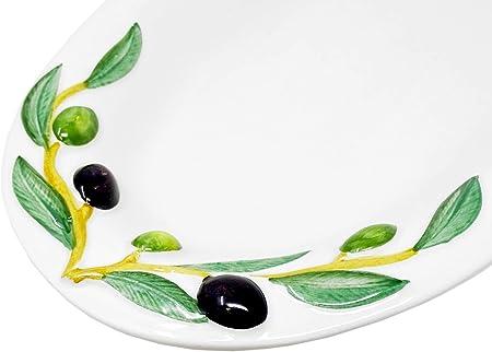 Gelb Hemoton Porzellan Servierplatten Gepr/ägte Servierteller Dessertteller Vorspeisenteller Steakplatte