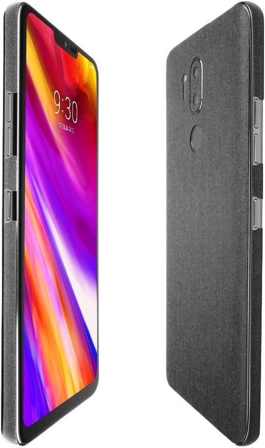 Skinomi Brushed Steel Full Body Skin Compatible with LG G7 ThinQ LG G7+ ThinQ Full Coverage TechSkin with Anti-Bubble Clear Film Screen Protector