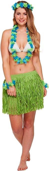 Hawaiian Costume Accessories Lizzy - Disfraz de niña Hawaiana, 5 ...