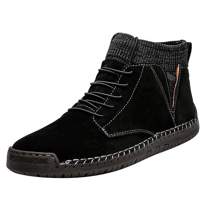 Amazon.com: ASOBIMONO - Botas de nieve para hombre, botas de ...