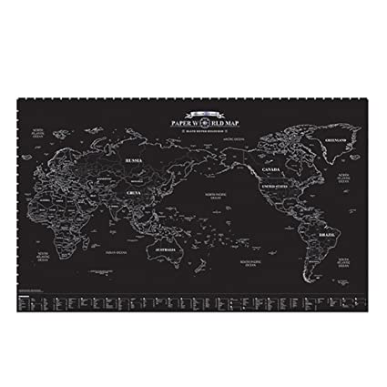 Amazon unique and beautiful paper world map decorator national unique and beautiful paper world map decorator national geographic reference map black gumiabroncs Image collections