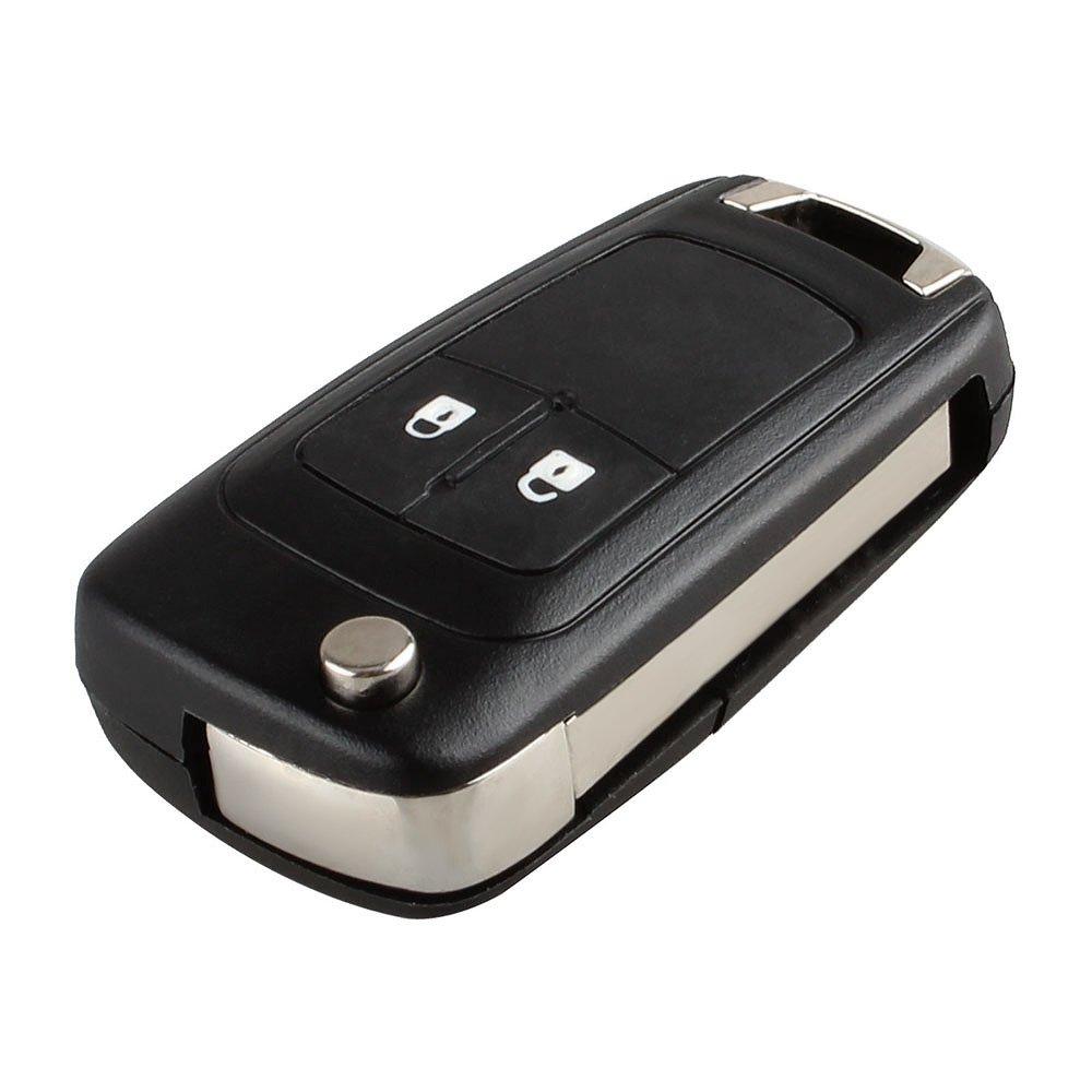 KKmoon Carcasa para Llave 2 Botones Plegable Mando a Distancia para Coche