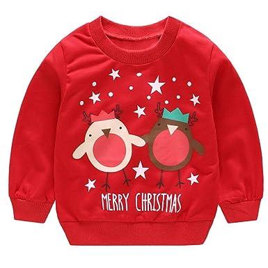 d79bf26efd togel Baby-Anzug Kleinkind Kinder Baby Mädchen Jungen Langarm Cartoon  Weihnachten Print Pullover Tops Blumen