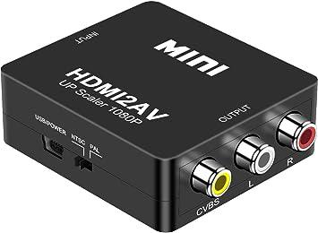 DIGITNOW! HDMI a AV 3 RCA CVBS Compuesto Adaptador Convertidor Conversor de Video y Audio de
