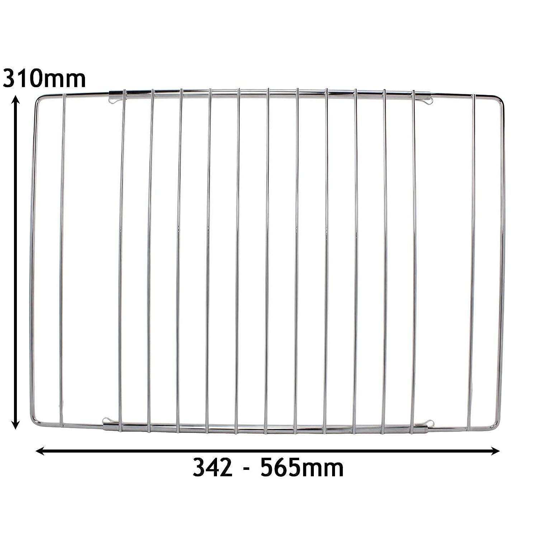 2/ou 3/grilles /à largeur r/églable chrom/ée pour four Bosch 2 Shelves Spares2go Lot de 1