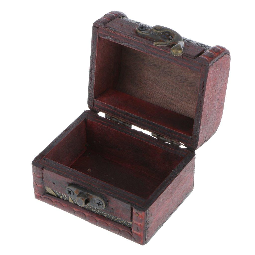 Boîte à Bijoux Rangement en Bois Rétro Organisateur Vintage #2 Générique