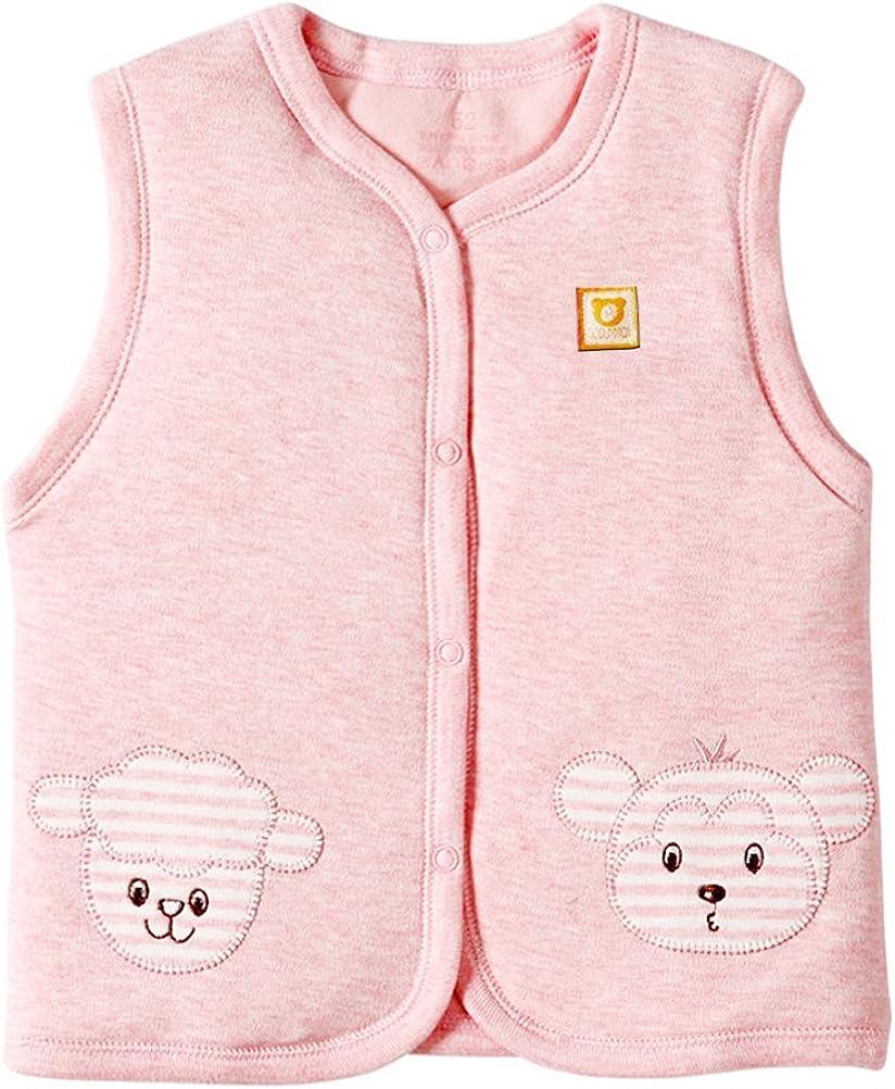 XYIYI Baby Warm Jacket Cotton Vest, Unisex Infant Toddler Padded Waistcoat