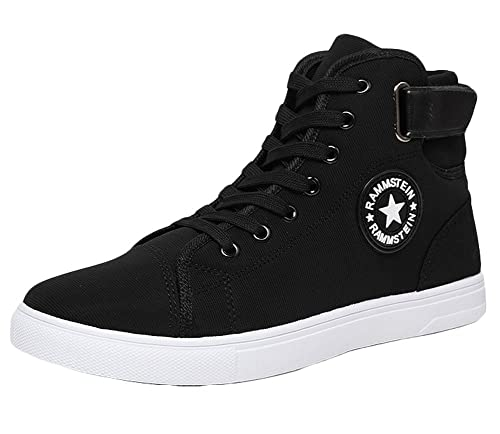 bd52e854f229 King Ma Men's Canvas Fashion High-top Sneakers Shoes