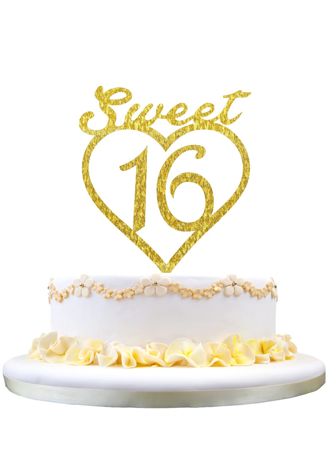 Tremendous Monogram Cake Topper Sweet 16 Silhouette 16Th Birthday Cake Funny Birthday Cards Online Alyptdamsfinfo