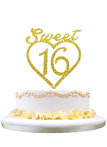Excellent Monogram Cake Topper Sweet 16 Silhouette 16Th Birthday Cake Funny Birthday Cards Online Unhofree Goldxyz