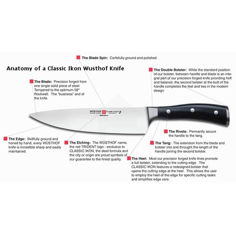 Wusthof 4172-7 Classic IKON Hollow Edge Santoku, One Size, Black, Stainless by Wüsthof (Image #7)