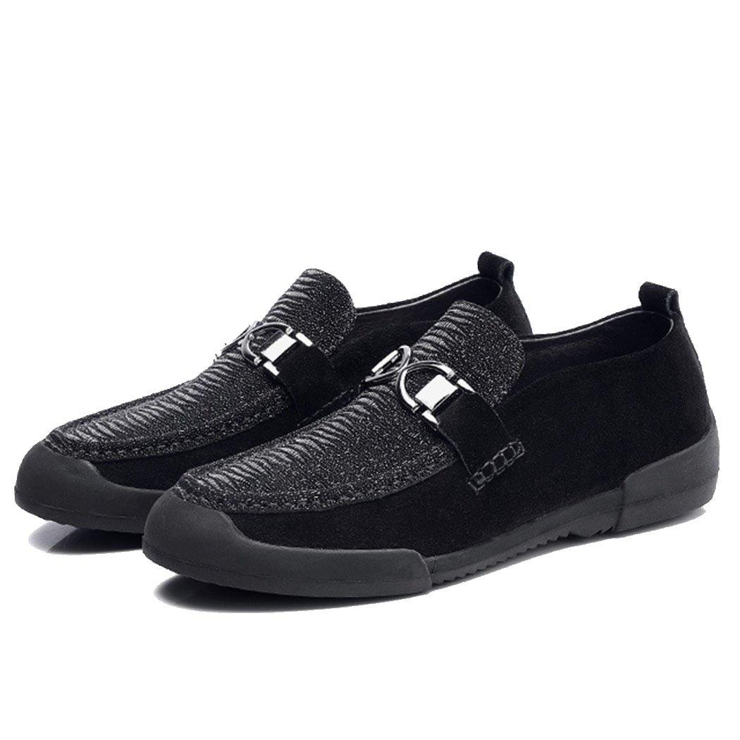 GAOLIXIA Zapatos para Hombres Zapatos Casuales de Negocios Zapatos de Conducción Zapatos Deportivos de Hombre de Grado Superior Zapatos Negros de Guisantes (Color : Negro, Tamaño : 41 EU) 41 EU Negro