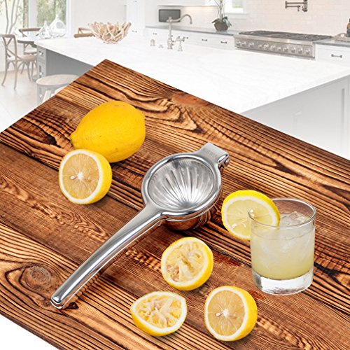 KISWIN Lemon Squeezer, Stainless Steel Manual Lime Squeezer / Citrus Press / Orange Juicer- Easy Extract, Sturdy and Dishwasher Safe by KISWIN (Image #2)