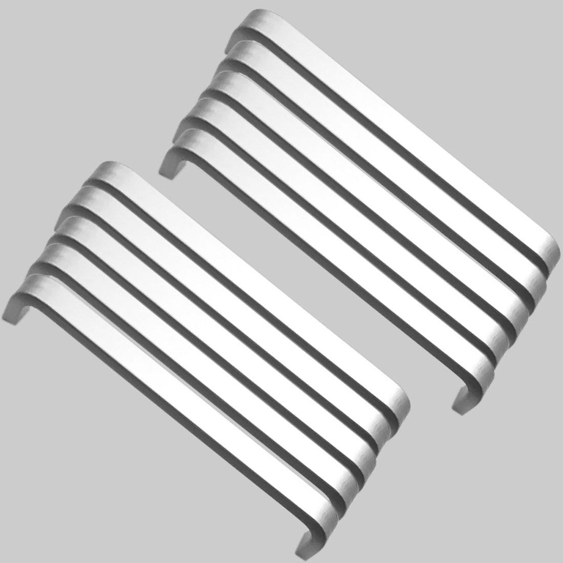 10x Mini Tiradores de barra de Aluminio Caj/ón De Armario Armario Manillas Tiradores Puerta 64mm