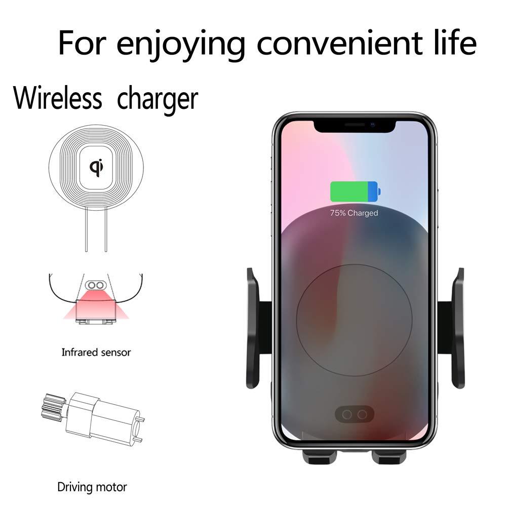 Te Qi Wireless Car Mount infrarrojos sensor de movimiento Soporte para teléfono móvil ladeger?T F š ¹ r Auto Air Vent 10 W Carga Rápida F š ¹ r Samsung ...