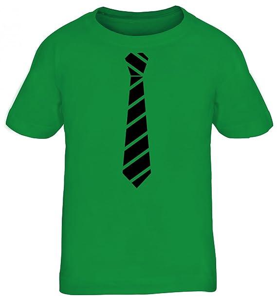 Sportlich Festlicher Style Schlips Kinder T-Shirt Rundhals Mädchen Jungen  Streifen Krawatte Schwarz, Größe 1e891012f6