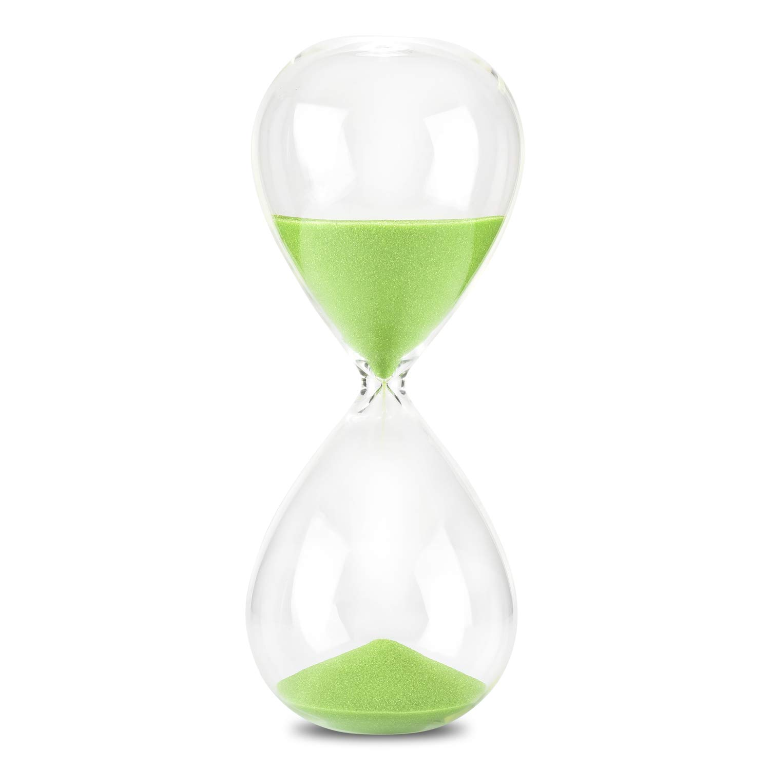 Hourglass Sand Timer, 7.8 INCH Glass Sandglass Hourglass Timer 30 Minutes for Home Office Desk Coffee Table Decor Holiday Gift
