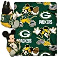 Officially Licensed NFL Co-Branded Disney's Mickey Hugger and Fleece Throw Blanket Set