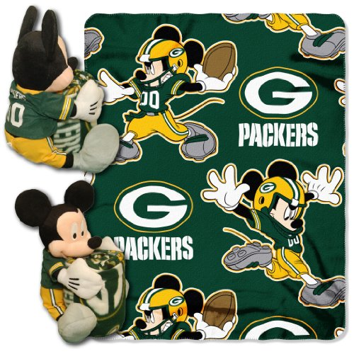 (The Northwest Company 1COB/03800/0017/AMZ NFL Green Bay Packers Co Disney's Mickey Hugger and Fleece Throw)
