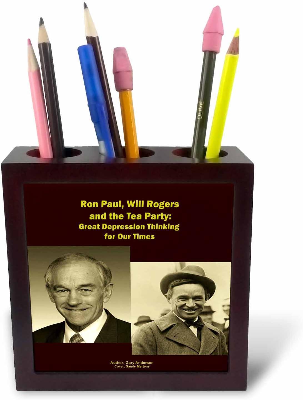 3dRose ph 26361 _ 1 Ron Paul Will Rogers y el té Party-Tile ...