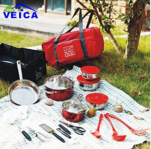 Tencere Fda Titanium Cookware 2016 Hot Sale Top Fashion Cookware Cooking Pot Home Essential Total Kitchen 33-piece Combo Set
