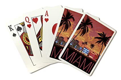 South Beach Miami, Florida (Playing Card Deck - 52 Card Poker Size with  Jokers)