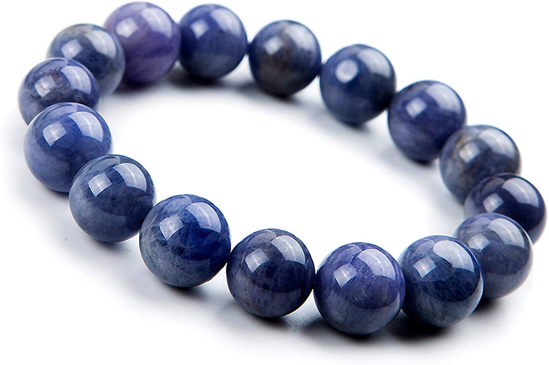 Natural Lapis lazuli Jade Bracelet Round beads bracelets 14mm free shipping