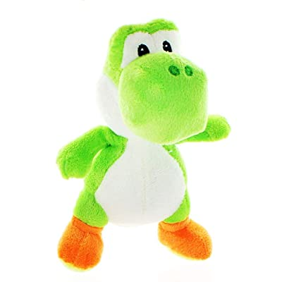 "Super Mario Bros. 7"" Plush: Green Yoshi: Toys & Games"