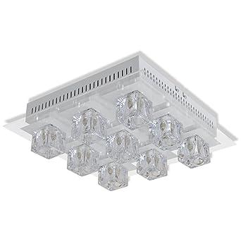 VidaXL RGB LED Decken Lampe Fernbedienung Wohnzimmer Leuchte Beleuchtung 9er