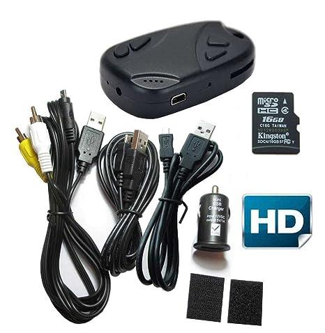16GB HD 720P 30fps Mini Cámara Espía Llavero Grabadora DV ...