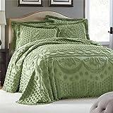 Brylanehome Georgia Cotton Throw Bedspread (Sage,King)
