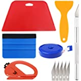 Wallpaper Smoothing Tool Kit Include red Squeegee,Medium-Hardness Squeegee, Black Tape Measure,snitty Vinyl Cutter and…