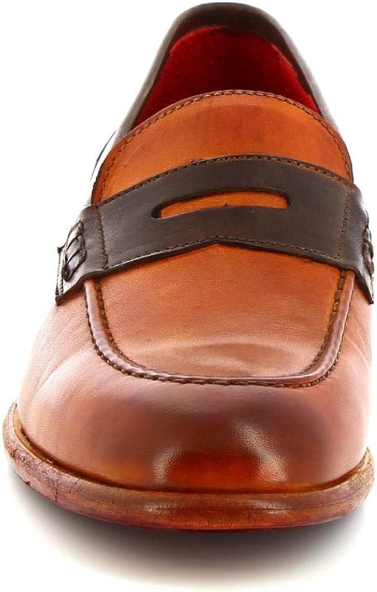Leonardo Shoes Mocassini da Donna Fatti a Mano in Pelle di Vitello Arancio - Codice Modello: 7840 Arancio