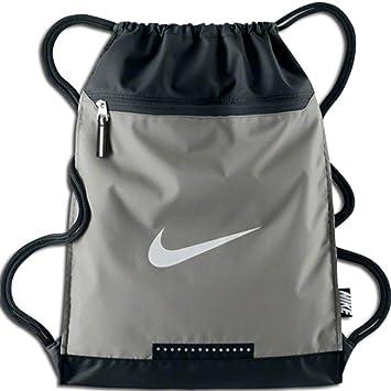 NIKE Vapor Team Training Drawstring Gymsack Backpack 400 Denier Sport  Bookbag (Wolf Grey Black 54b382b07f36b