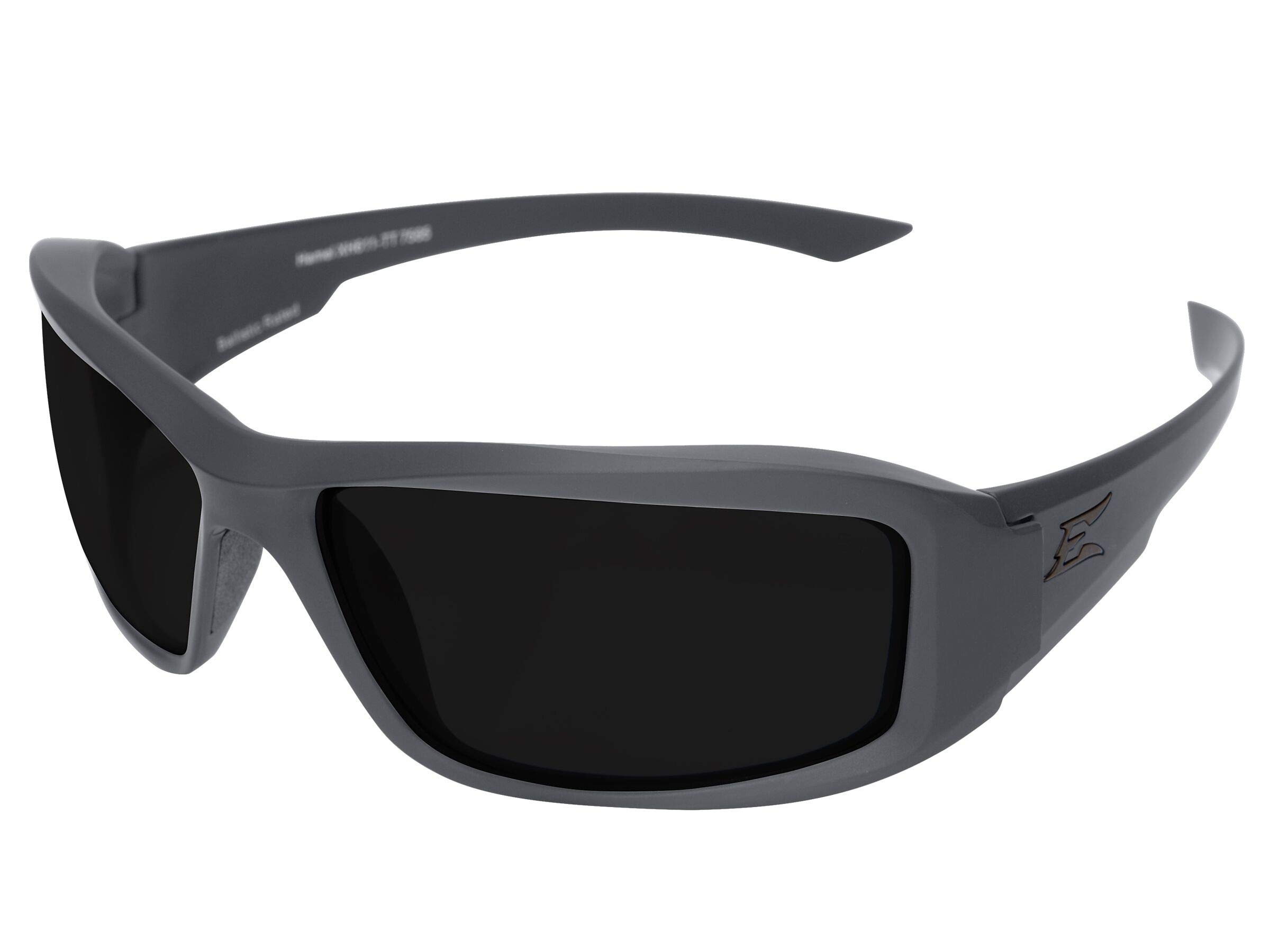 Edge Eyewear TXH726-TT Hamel Gray Wolf Thin Temple - Soft-Touch Gray Frame/Polarized Smoke Lenses